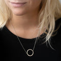 Circular Polished Finished Necklace In White Gold