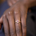 Recycled Pink Sapphire Kimberlite Solitaire in Yellow Gold