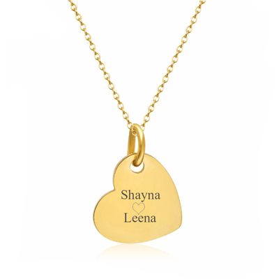 Engraved Heart Name