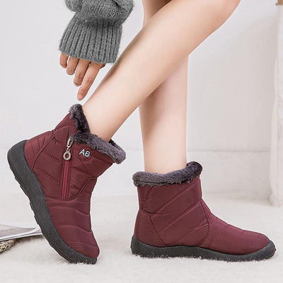 Winter Plush Zipper Boots