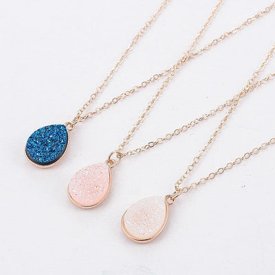 Charm Drop Stone Necklaces