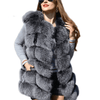 Faux Sliver Fox Fur Vest