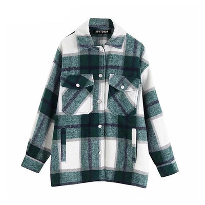 Andrea Plaid Jacket
