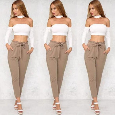 Chic Bow Tie Trousers