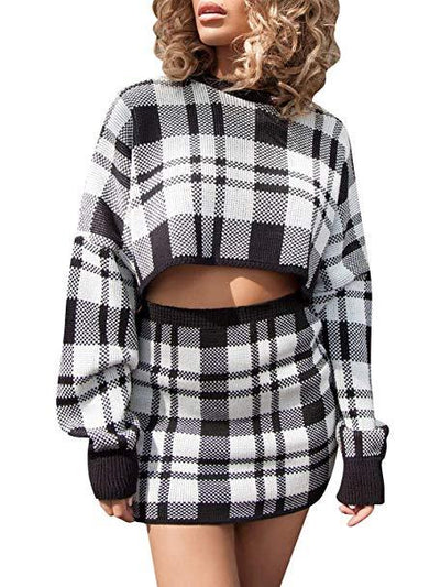 Tiffany Plaid Knitted Set