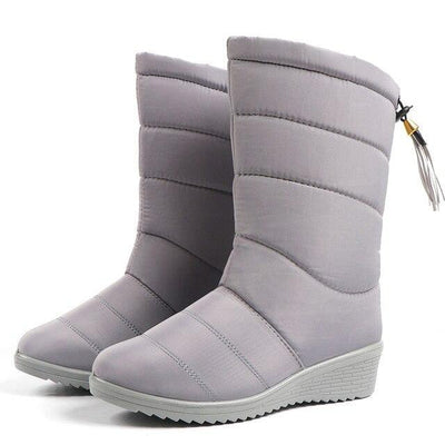High-Top Plush Boots