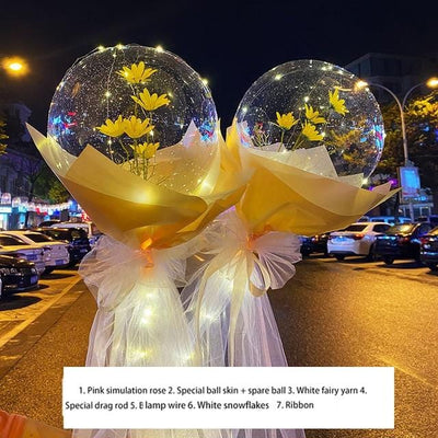 LED Rose Balloons