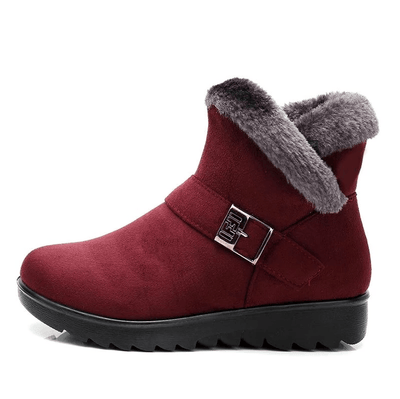 Plush Wedge Snow Boots