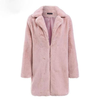 Elegant Pink Fur Coat