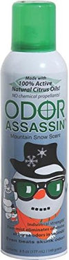 Odor Assassin Odor Control Spray Mountain Snow Scent Aerosol 6 Oz - Mi Vidorra.com