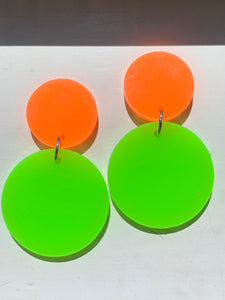 NEON ORANGE/NEON GREEN Dangles