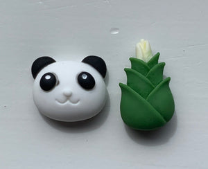 PANDA & BAMBOO Stud Earrings