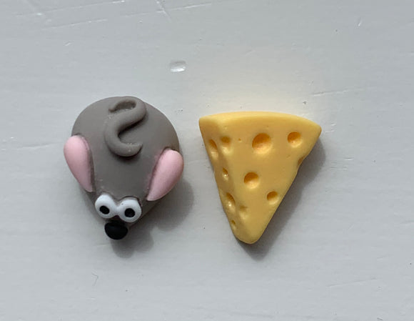 MOUSE & CHEESE Stud Earrings