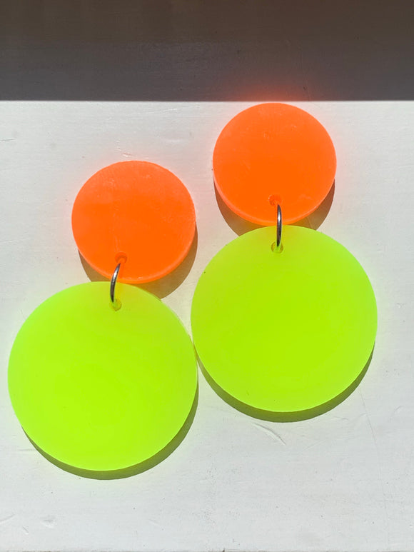 NEON ORANGE/NEON YELLOW Dangles