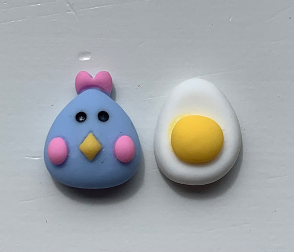 CHICKEN & EGG Stud Earrings