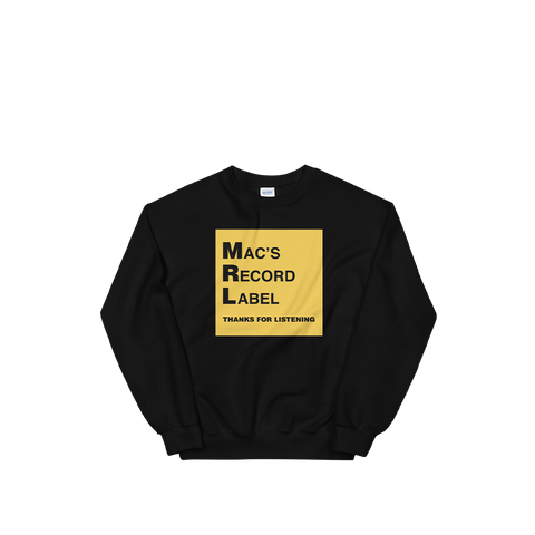 MAC'S RECORD LABEL LOGO CREWNECK