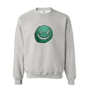 Smiley Face Grey Crewneck + Digital Album