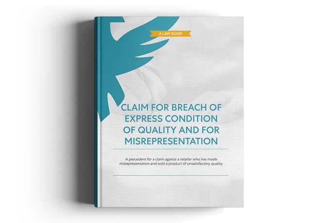 Claim for breach of express condition of quality and for misrepresentation