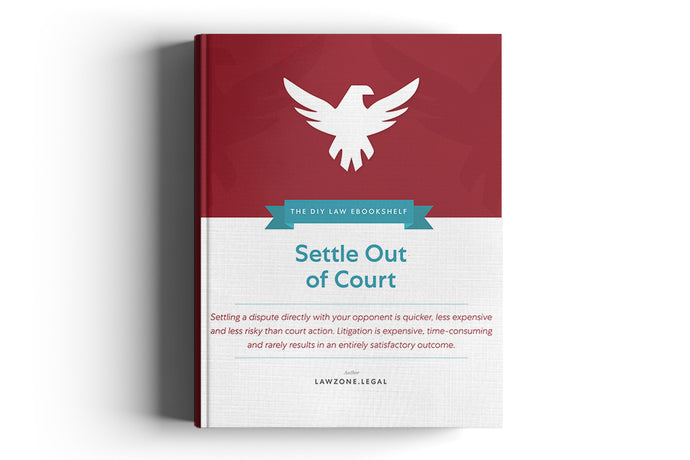 Settle Out Of Court Book LawZone Legal UK