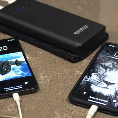Portable Charger 20800 mAh USB Quick Charge 65 Watt 6.5A Type-C External Power Bank LED Flashlight - Sikrox