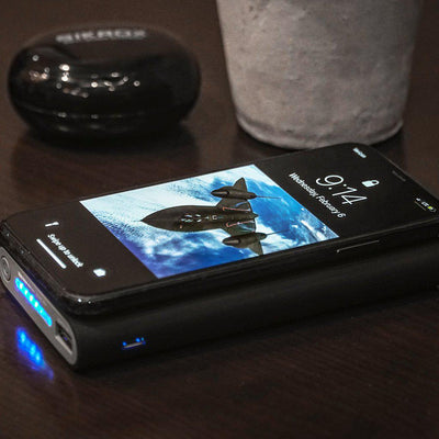 Portable Charger 10000 mAh Wireless Charging Qi Power Bank SR71 Quick Charge - Sikrox