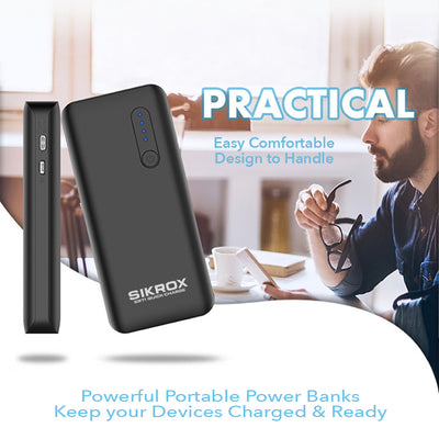 Portable Charger 10400 mAh USB Quick Charge Type-C Power Bank LED Flashlight - Sikrox