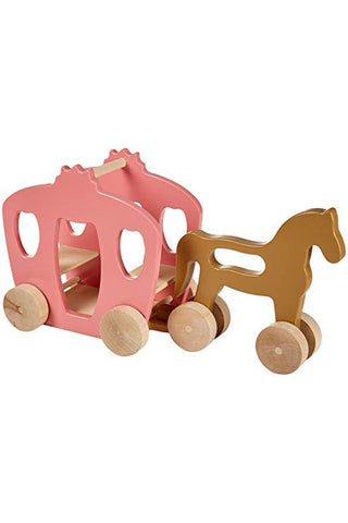 Wooden Eco Horse and Carriage