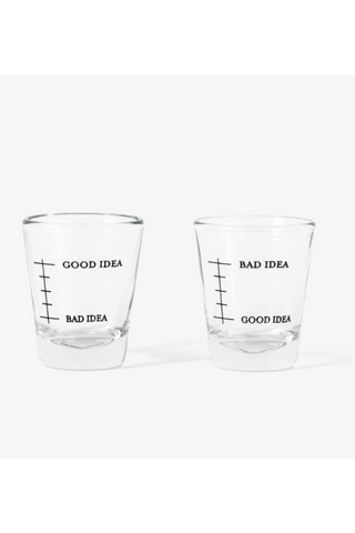 Good/Bad Idea Shot Glasses (set of 2)
