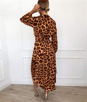 2020 Chiffon Vintage Long Beach Dress - LEOPARDFAM