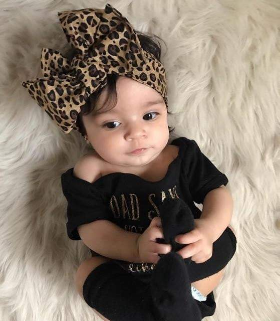 Baby Girls Short Sleeve Bodysuit - LEOPARDFAM