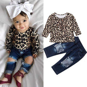 Baby Leopard Round Neck Pullover Clothes - LEOPARDFAM