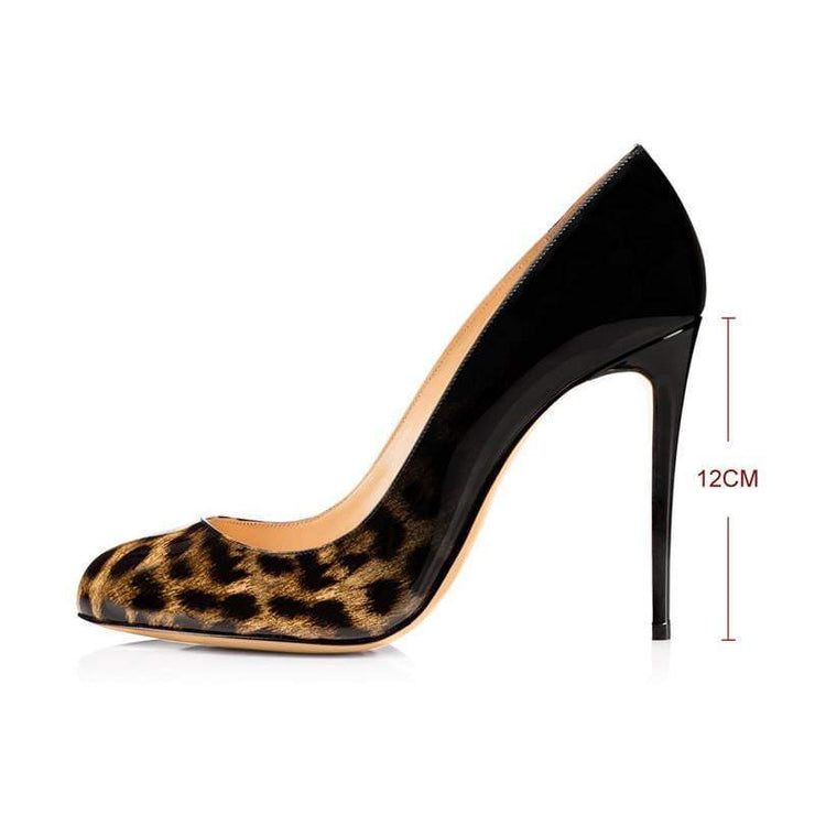 Platform Leopard Print Extremely High Heel Pumps Shoes- LEOPARDFAMHeel