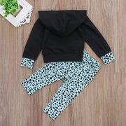 Fashion Kid Girl Boss Leopard Hoodie Clothes Set - LEOPARDFAM