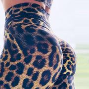 Fashion Leopard Print Sporting Fitness Slim Elastic Workout Leggins - LEOPARDFAM