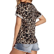 Fashion Leopard Casual Short Sleeve T Shirt - LEOPARDFAM