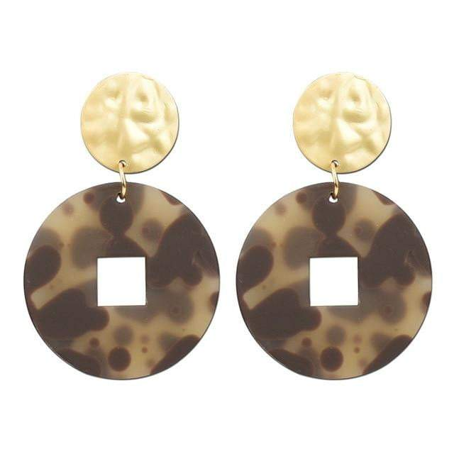 Fashionable Acetate Leopard Earrings - LEOPARDFAMEarrings