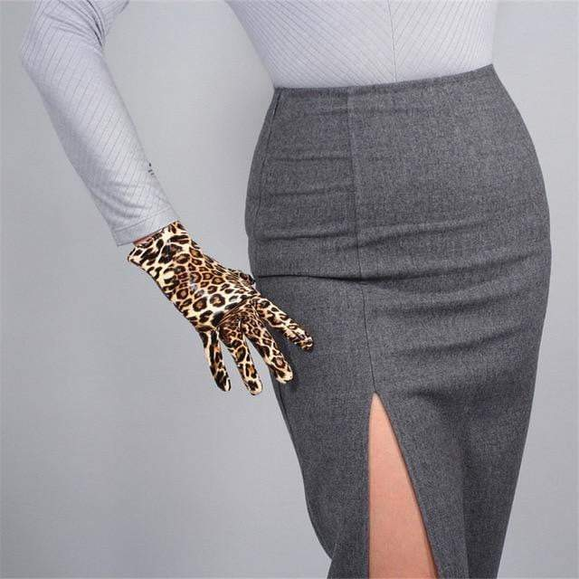 Leather PU Gloves - LEOPARDFAM