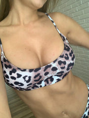 Leopard Bikini Women Swimwear Two-pieces Bikini Bathing Suit - LEOPARDFAM