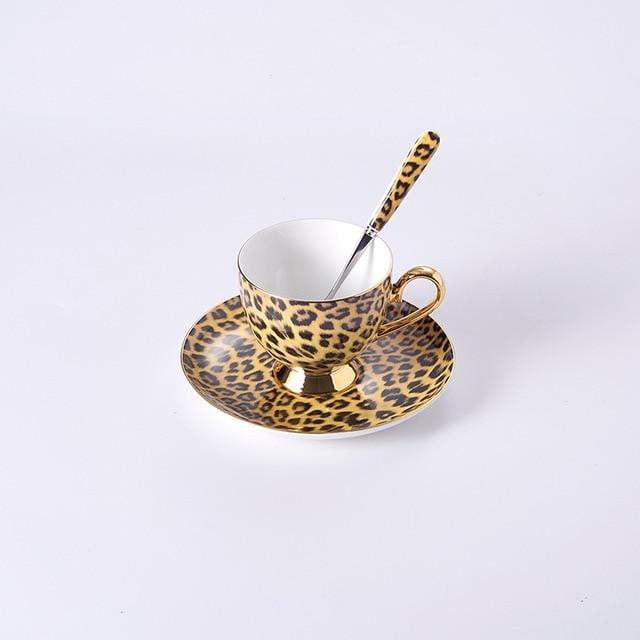 Leopard Print Luxury Porcelain Tea Set - LEOPARDFAM