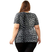Leopard Print Short Sleeve Top Tshirt M-8XL - LEOPARDFAM