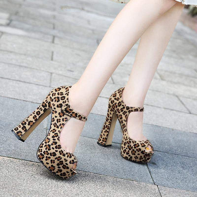 Leopard Women High Platforms Pumps - LEOPARDFAM