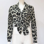 Long Sleeve Chiffon Blouse - LEOPARDFAM