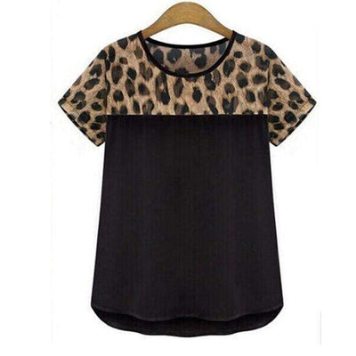 Summer Chiffon T-shirt - LEOPARDFAM