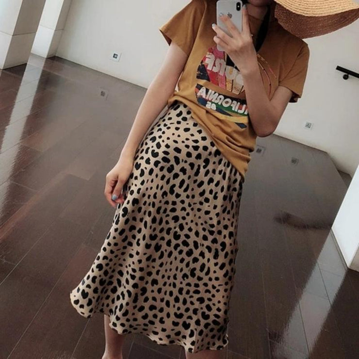 Summer Leopard Print High Waist Skirts - LEOPARDFAM