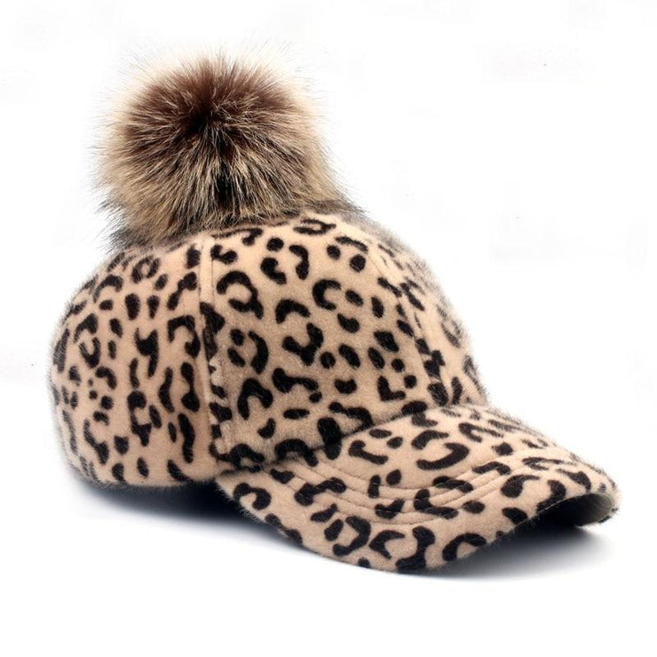 Winter Faux Fur Leopard Casual Snapback Hat Cap - LEOPARDFAM