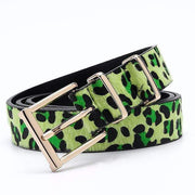 Women Horsehair Belt With Leopard Pattern - LEOPARDFAM