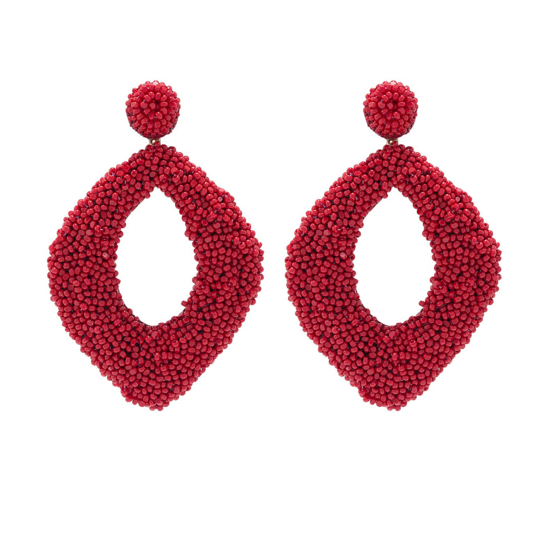 Resin Seed Beads Earrings