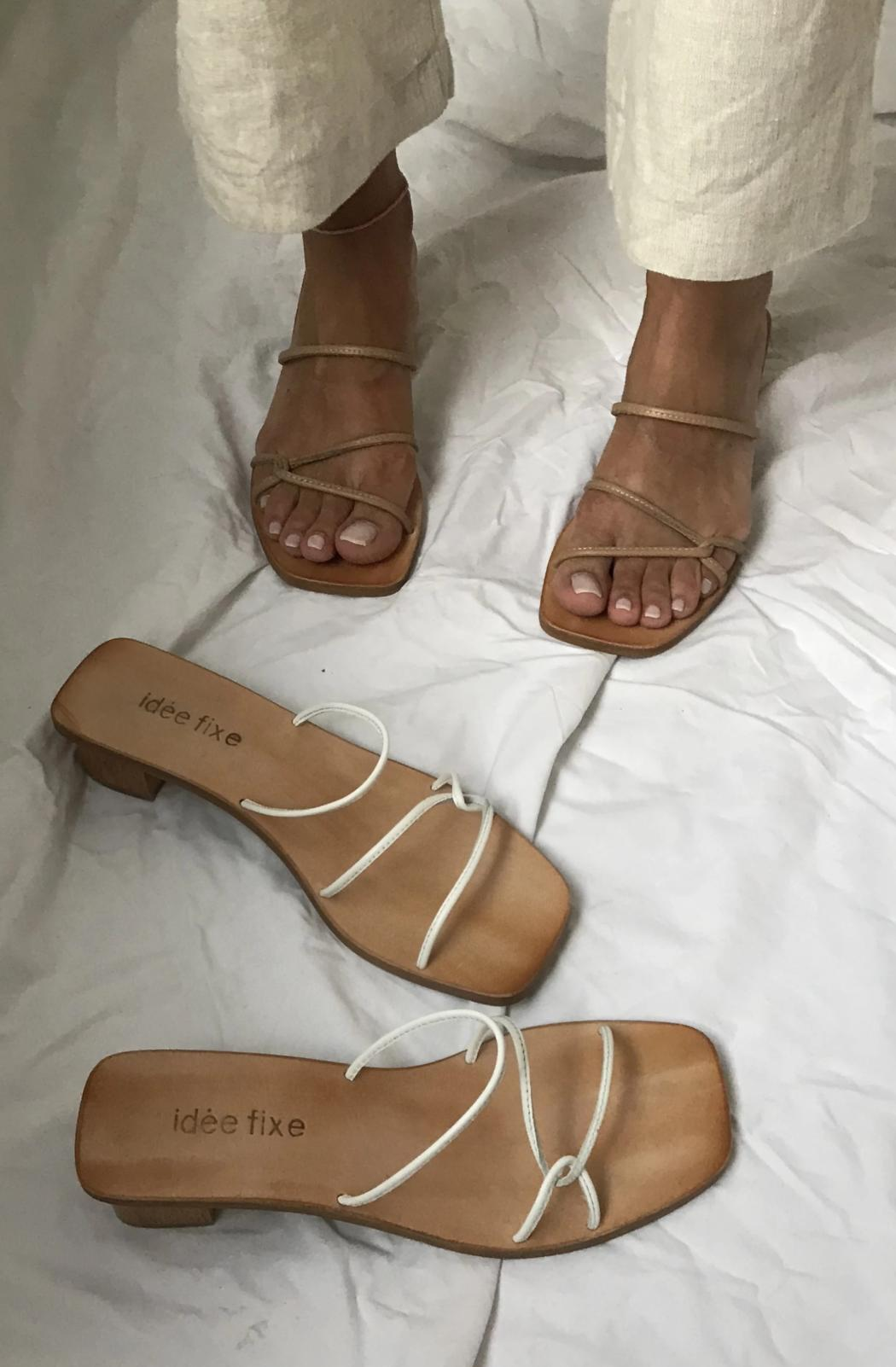 Morocco heeled Sandals | Nude
