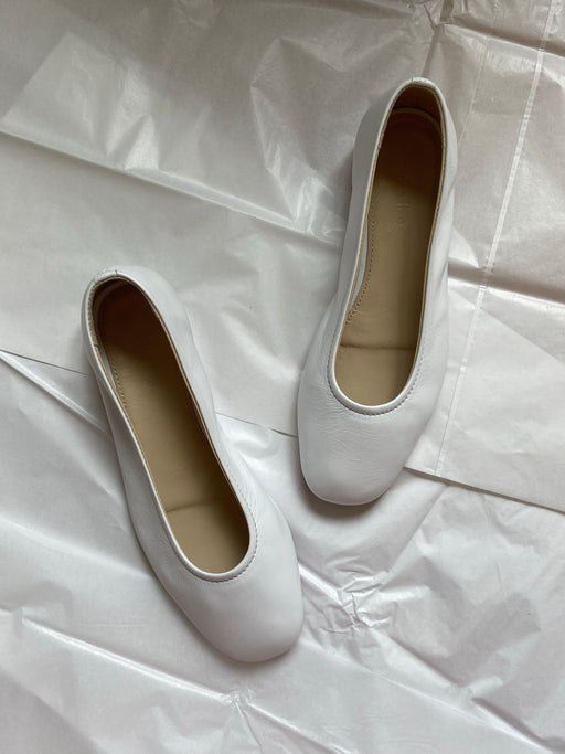 New Margot Flats | White