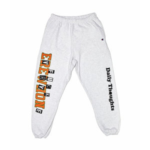 """Fuck Everyone"" Sweatpants (Ash) by Daily Thoughts LA"
